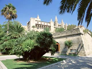 View to Almudaina Palace, Palma, Majorca, Balearic Islands, Spain