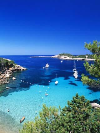 Coast Nearby Portinatx, Ibiza, Balearic Islands, Spain
