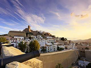 Spain, Balearic Islands, Ibiza, Old Town (Dalt Vila)