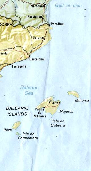Balearic map