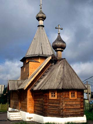 Reconstruction of a 10th Century Wooden Russian Orthodox Church, Vitebsk, Belarus