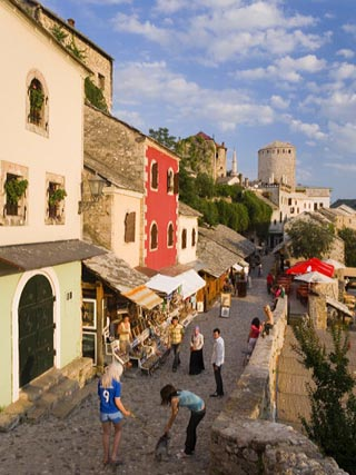 One of the Oldest Streets Leading to the Old Bridge, Mostar, Herzegovina, Bosnia Herzegovina