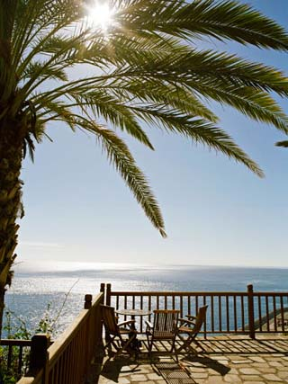 Beachfront Deck at a Resort in La Gomera, Canary Islands