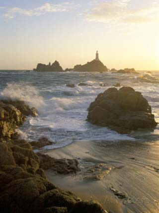 Corbiere Lighthouse, St. Brelard-Corbiere Point, Jersey, Channel Islands, United Kingdom