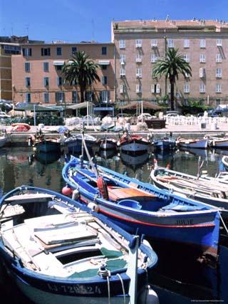 Small Fishing Boats, Ajaccio, Corsica, France, Mediterranean