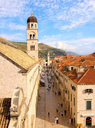 View of Old Town from City Wall, Dubrovnik, Croatia