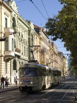 Tram, Praska Street, Zagreb, Croatia, Europe