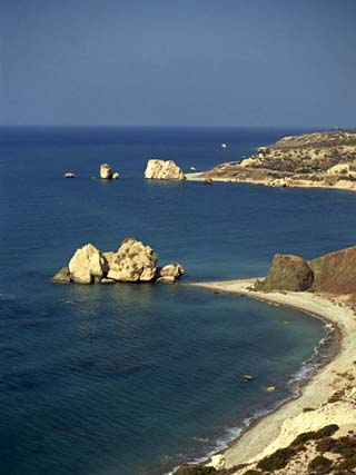 Aphrodite's Rocks, South Coast, Cyprus, Mediterranean, Europe