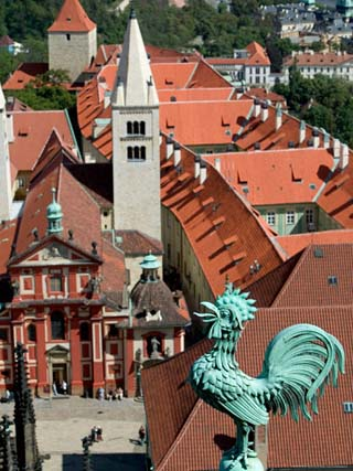 Rooster on Saint Vitus's Cathedral, Prague Castle, Czech Republic
