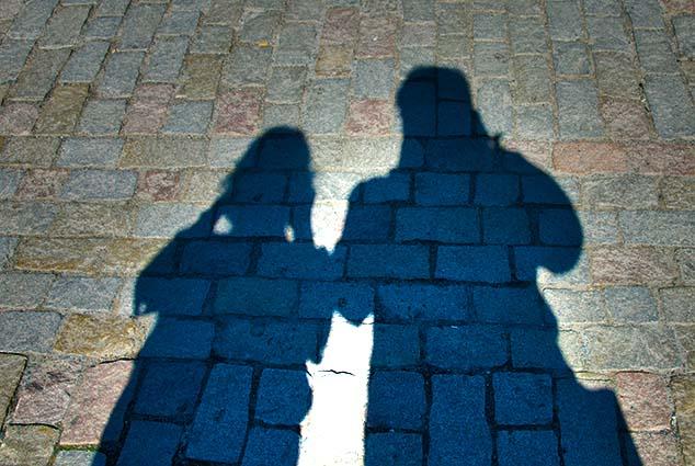shadows on the charles bridge