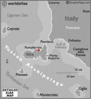 Elba latitude and longitude map