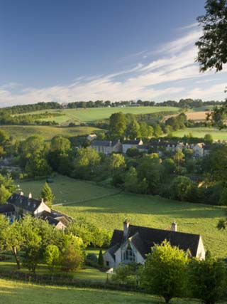 The Picturesque Village of Naunton in the Cotswolds, Gloucestershire, the Cotswolds, England, UK