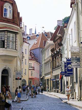 Pikk Street, Old Town, Tallinn, Estonia, Baltic States