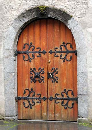 old church door bergen norway