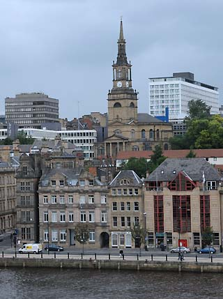 newcastle england waterfront buildings