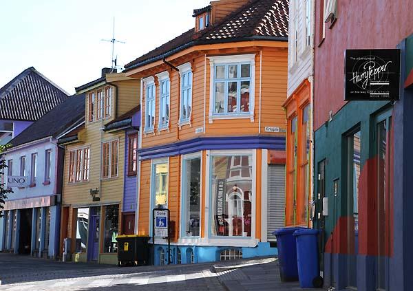 colorful buildings stavanger norway