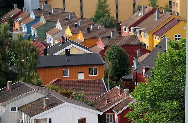 rooftops trondheim norway