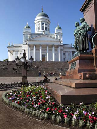 Tsar Alexander Ii Memorial and Lutheran Cathedral, Senate Square, Helsinki, Finland, Scandinavia