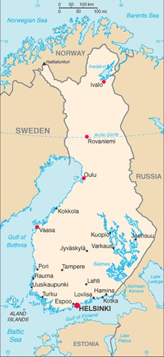 latitudes and longitudes. Finland latitude and longitude
