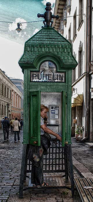 helsinki phone booth