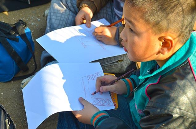 sketching boy