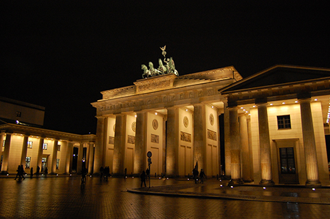 The Brandenburg Gate, symbol of German Reunification
