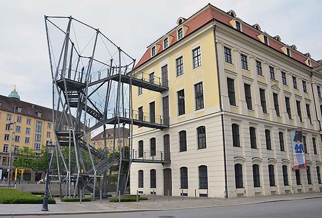 fire escape on a building dresden germany