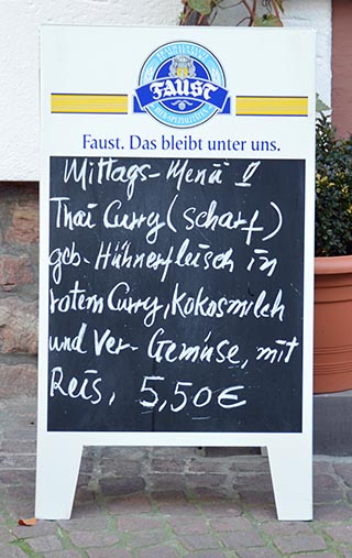 food for sale miltenberg germany