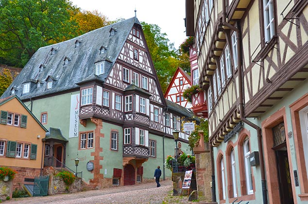 half timbered houses miltenburg germany