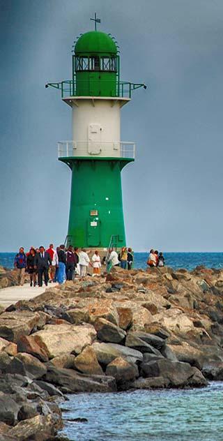 lighthouse warnemunde