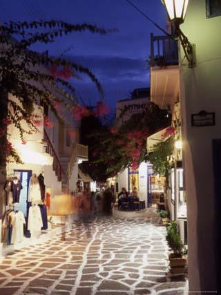 Alleyway at Night, Mykonos, Greece