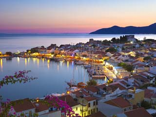 Harbour at Dusk, Pythagorion, Samos, Aegean Islands, Greece