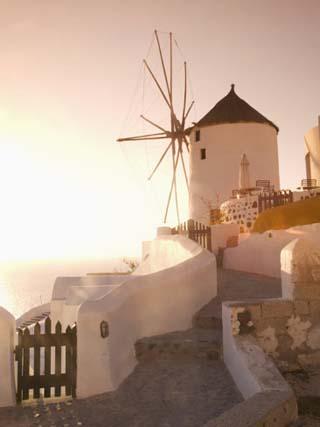 Windmill, Oia, Santorini, Cyclades Islands, Greek Islands, Greece, Europe