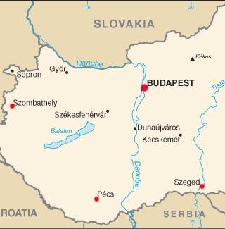 Hungary latitude and longitude map