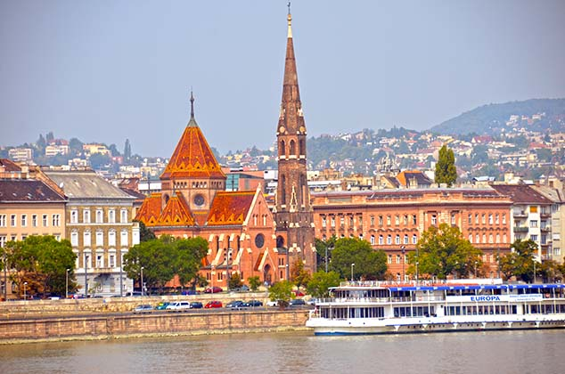 buildings along the danube budapest