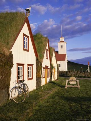 Farm Museum, Laufas, Northeast Area, Iceland, Polar Regions