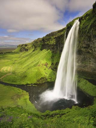 Seljalandfoss Waterfall, South Coast, Iceland