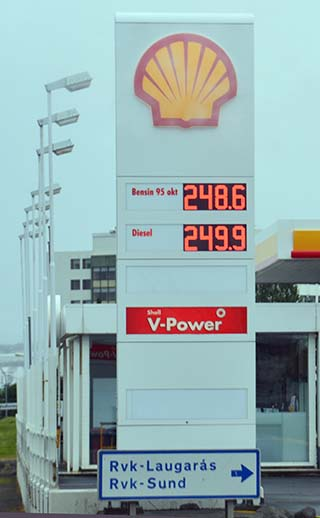 gas in iceland
