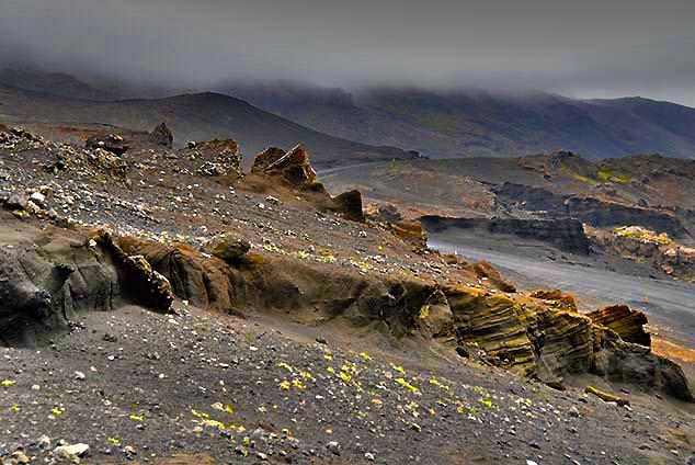 rugged lava