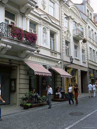 Didzioji Gatve (Main Street), Old City, Vilnius, Lithuania, Baltic States