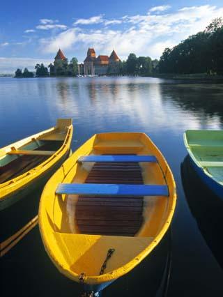 Trakai Island and Castle Nr. Vilnius, Lithuania