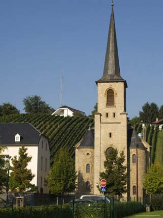 Village on the Wine Route, River Moselle, Luxembourg