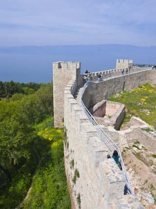 Castle, Ohrid at Lake Ohrid, UNESCO World Heritage Site, Macedonia, Europe