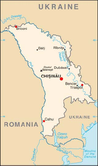Moldova latitude and longitude map