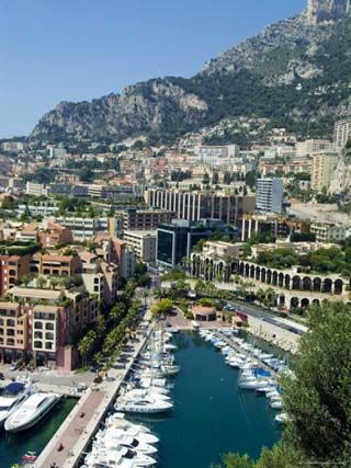 Views from Fontvieille Port Over Monaco