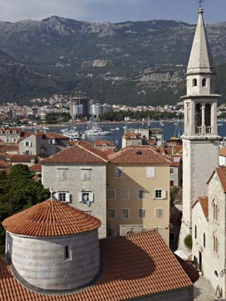 The Old Walled Town of Budva with the Citadela in the Foreground, Budva, Montenegro, Europe