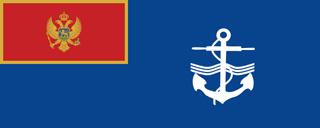 montenegro naval ensign flag