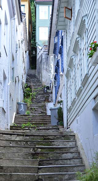 steep steps in bergen