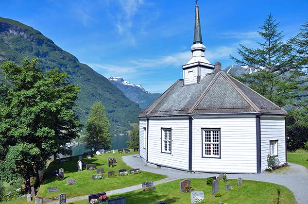 church geiranger norway