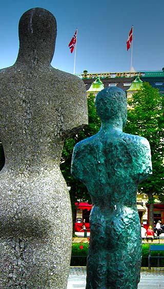 city statues oslo